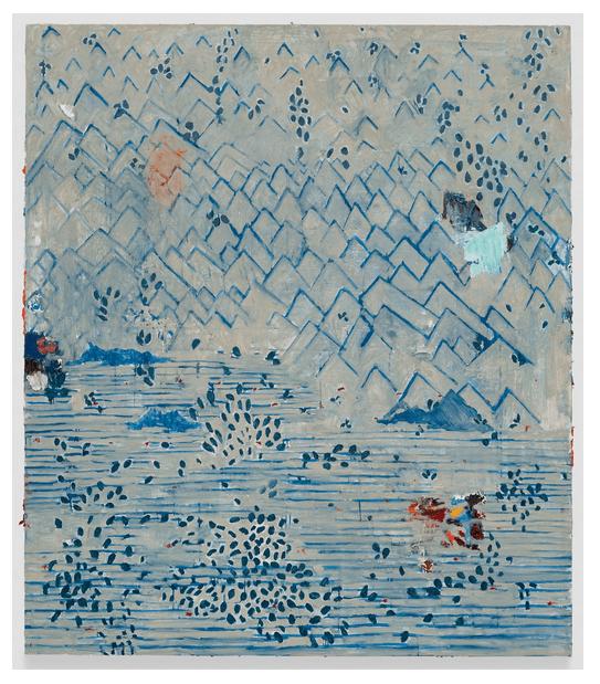 Marina Rheingantz painting Zeno X Gallery at the 2018 Art Basel