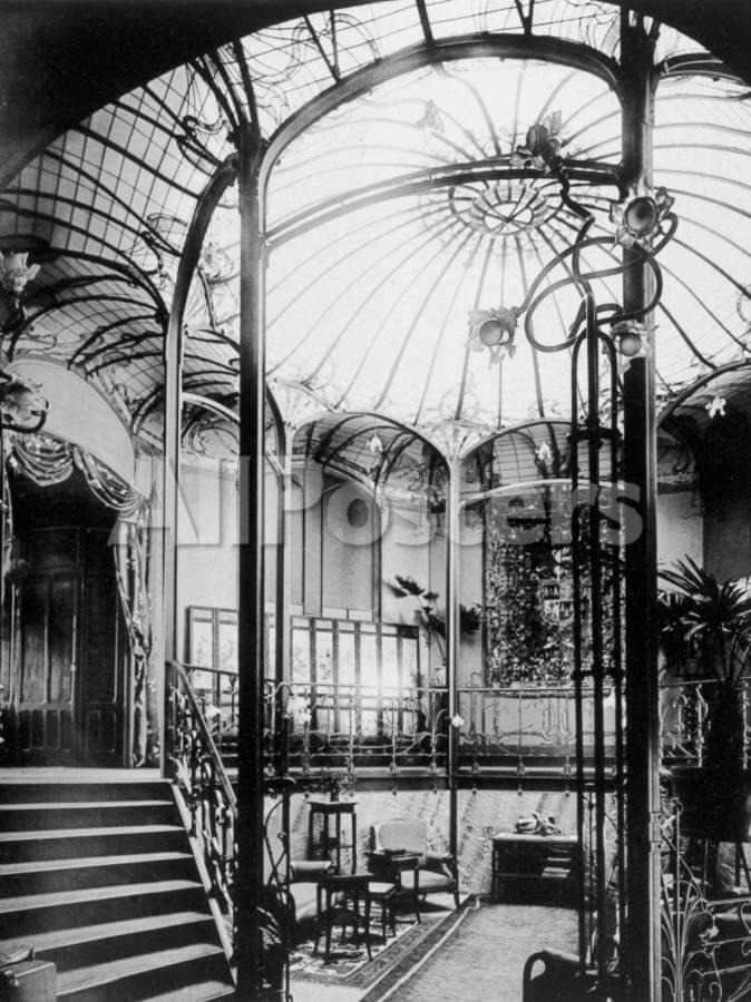 Poster: Victor Horta Art Nuveau entrance hall Horta Museum Brussels from AllPosters.com
